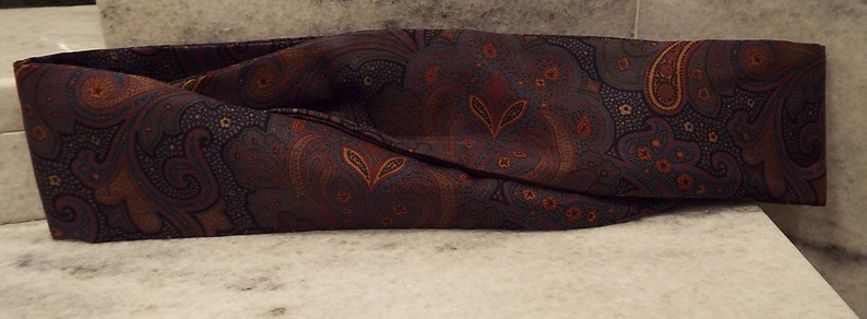 Vintage 1980s ladies silk cummerbund from Harken Ltd made in image 0