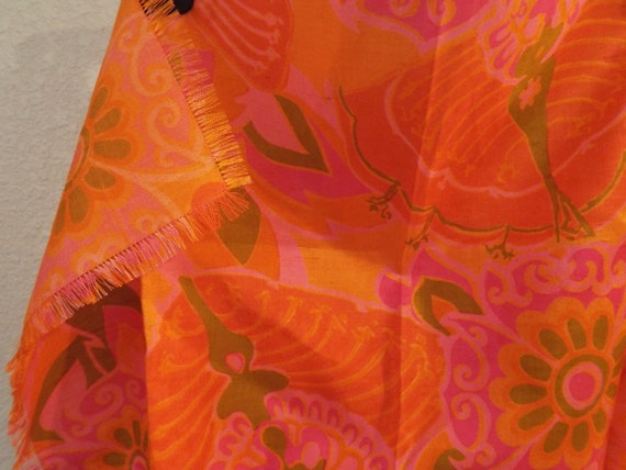 Vintage hand woven Star of Siam silk scarf