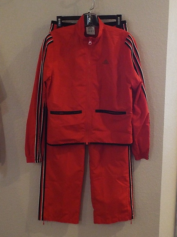 Vintage Red & Black Adidas Jacket (M)