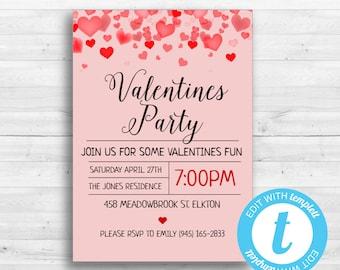 Valentine Invite Etsy