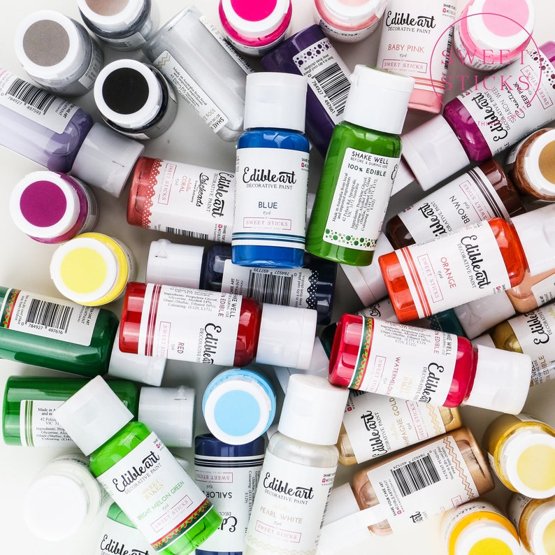 FAST SHIPPING Edible art Decorative Paint Matte by Sweet image 0