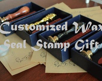 Customized Initial Wax Seal Gift Set