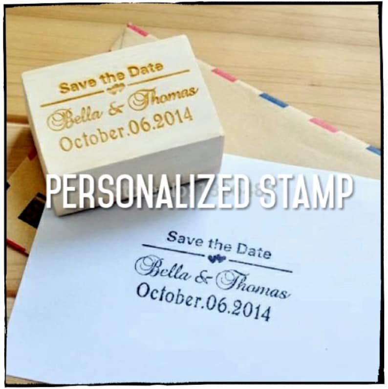 Personalized Wedding Stamp Wood Invitation
