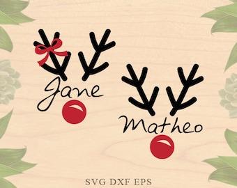 Christmas monogram SVG Reindeer monogram SVG Reindeer svg monograms svg EPS Dxf Cricut downloads Cricut files Silhouette files Silhouette