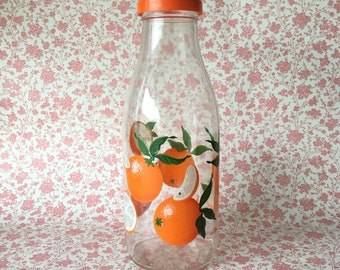 Retro Le Parfait Glass Juice Bottle ORANGES