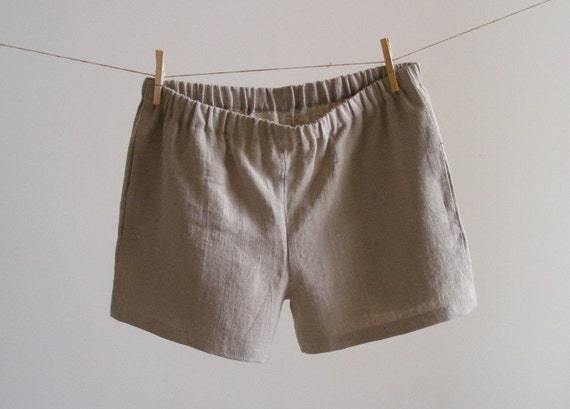 Simply Classic Pure Linen Boxer Shorts With Side Pockets  e2a768cca