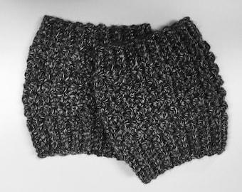 Textured Crocheted Boot Cuffs