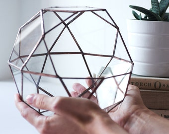 Geometric Glass Terrarium
