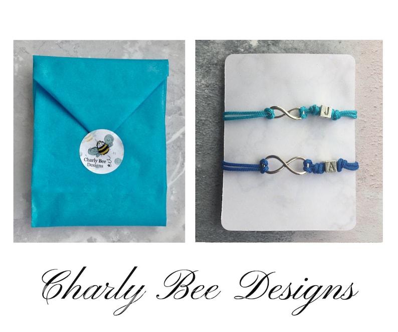 Birthday Boyfriend Bracelet UK Couple Jewellery Custom Paracord Bracelet Personalised His and Hers Infinity Bracelet Set Boyfriend Gift