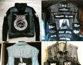Custom Order Punk Metal Battle Jackets