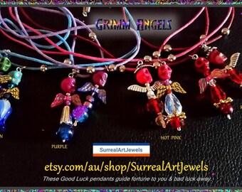 GrimmAngels Good Luck  Charm - Pendant Necklace
