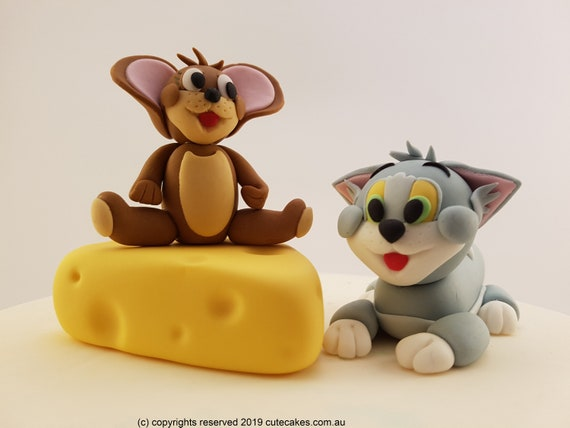 figurines Tom et Jerry cake topper déco gateau