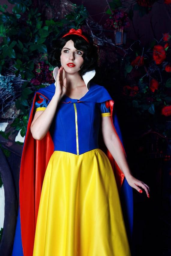 Snow White Cosplay Kostüm für Erwachsene Disney Prinzessin | Etsy
