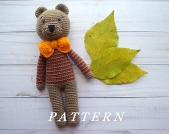 Crochet Bear Pattern - Crochet Pattern Amigurumi-Amigurumi Bear- Crochet Pattern- Amigurumi Crochet Pattern