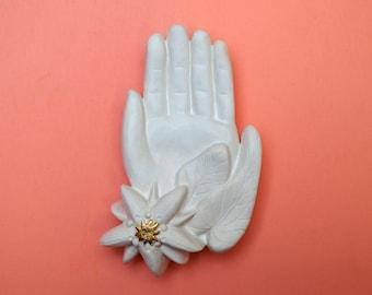 EX-VOTO plaster for hand-shaped interior decoration