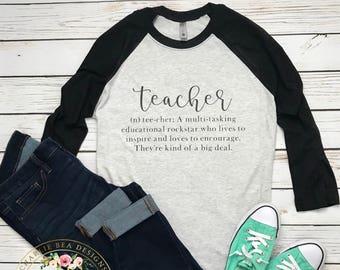 Teacher Shirt - Teacher Definition Shirt - Teacher Gift - Definition Shirt