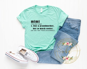 02002a36 Mimi Shirt- Mimi Definition Shirt - Mothers Day Gift - Grandmother Shirt -  Grandparents Gift -Grandmother Defintition