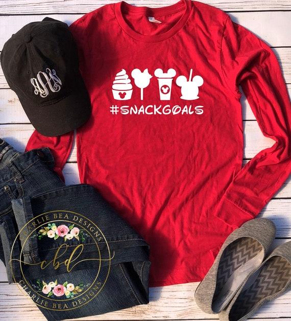 Disney Shirt Disney Snack Goals Shirt Long Sleeve Disney  694b17d7ef