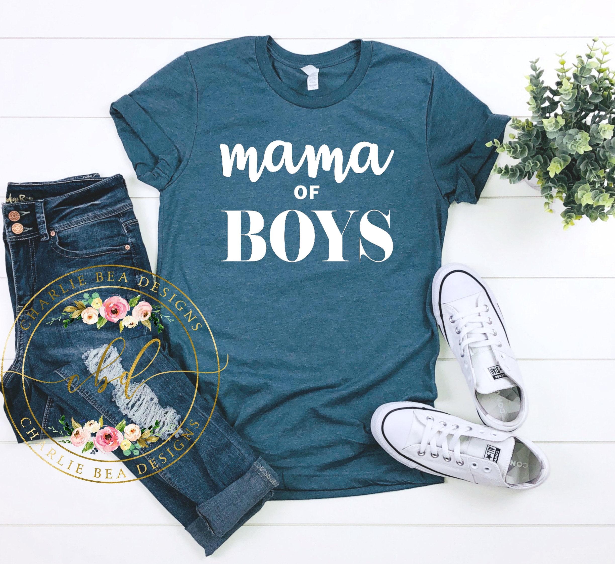55124008 Mama of Boys Mom of Boys Boy Mama Boy Mama Shirt Boy   Etsy