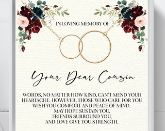 cousin remembrance necklace sympathy gift memorial gift Loss of cousin gift memorial gift necklace cousin in loving memory of cousin gift