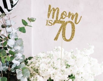 70th Birthday Centerpieces 70 Party Decor Gold Decorations