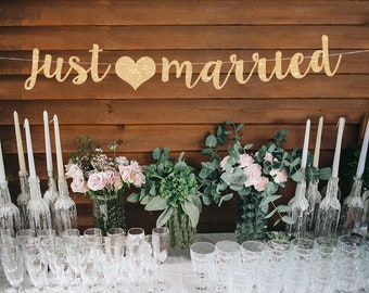 Just Married Banner Etsy