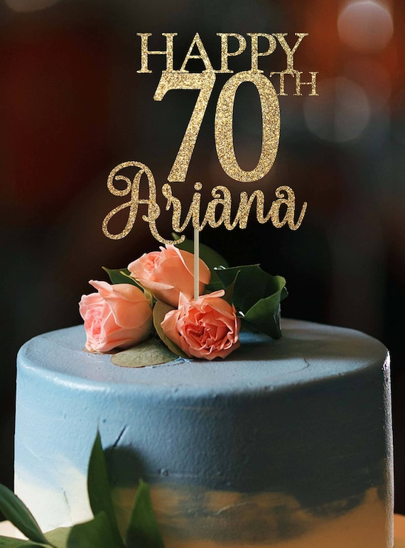 70th Birthday Cake Topper Any Age Happy