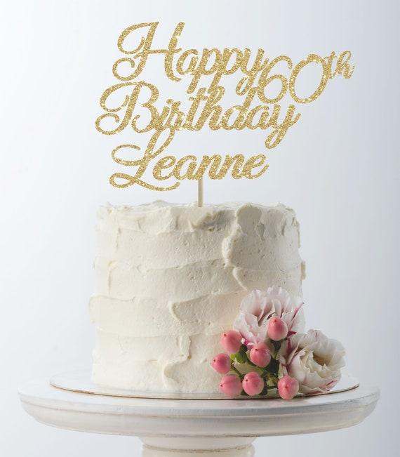 Groovy Happy Birthday Cake Topper 60Th Birthday Custom Cake Topper Etsy Funny Birthday Cards Online Amentibdeldamsfinfo