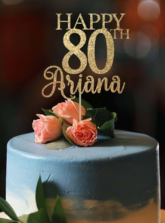 80th Birthday Cake Topper Any Age Happy