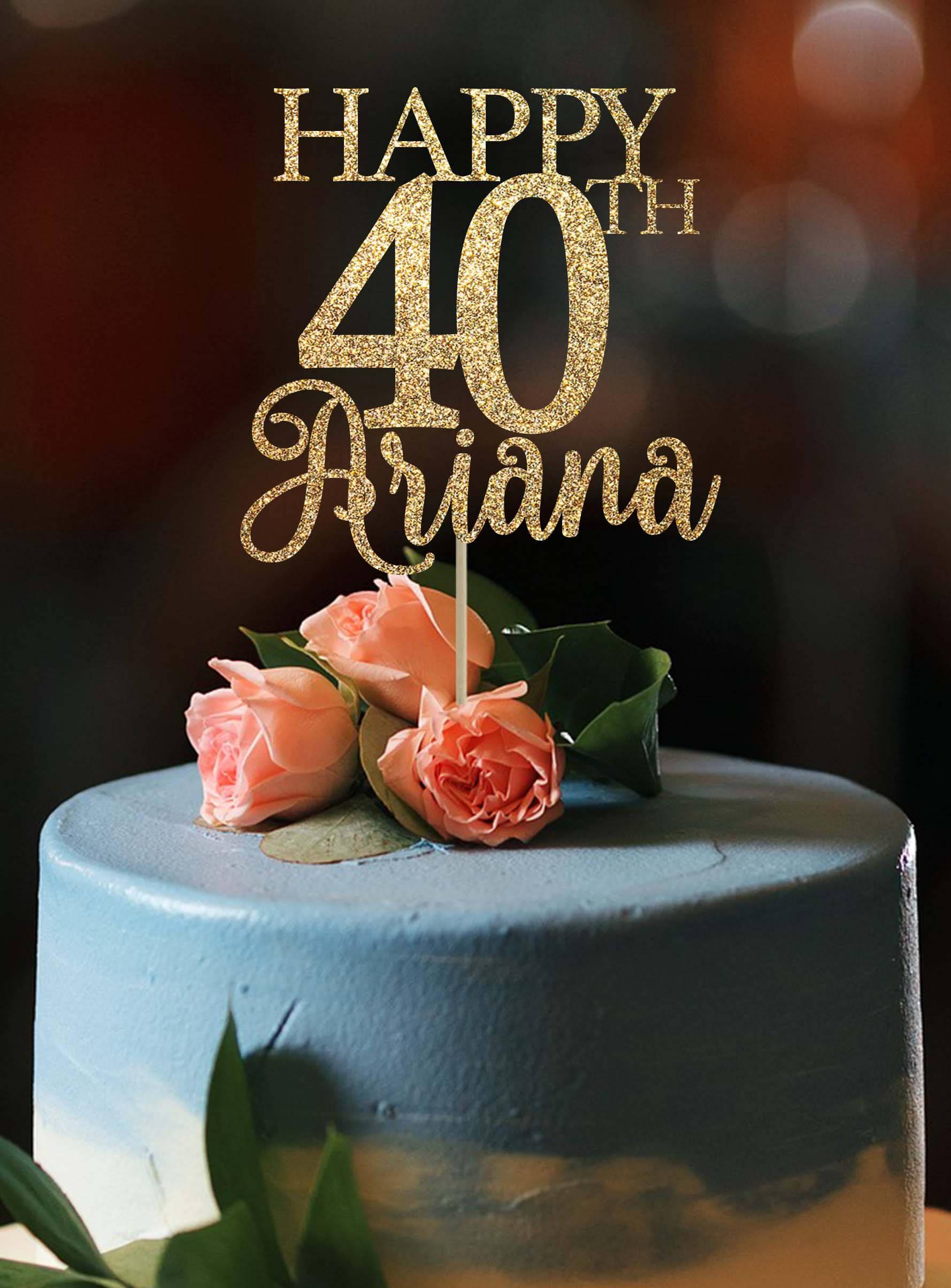 40th Birthday Cake Topper 40th Birthday Decor 40 Cake Topper Etsy