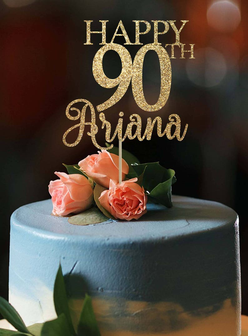 90th Birthday Cake Topper Any Age Happy