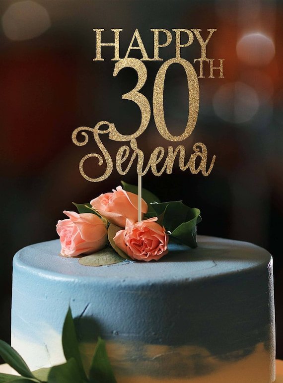 Super 30Th Birthday Cake Topper 30Th Birthday Decor 30 Cake Topper Etsy Personalised Birthday Cards Cominlily Jamesorg