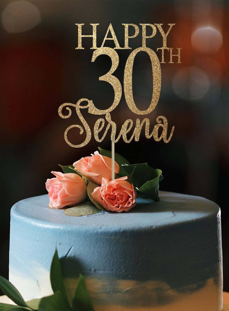 30th Birthday Cake Topper Decor 30