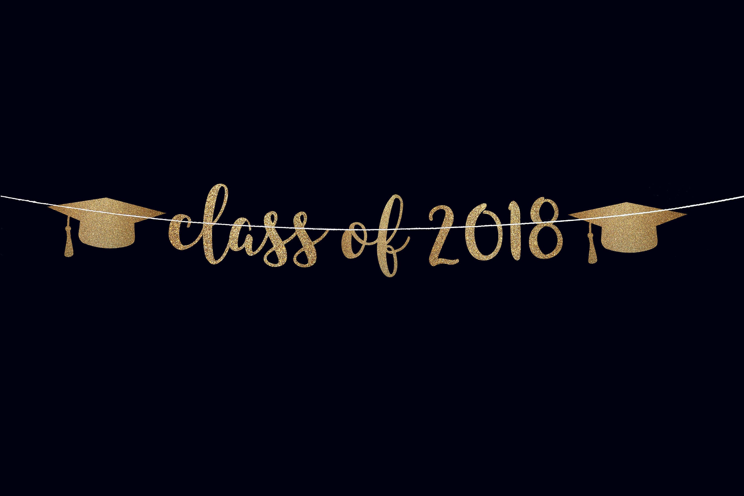 class of 2018 banner graduation decor graduation banner grad etsy
