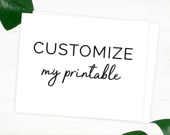 Customize My Printable - For Taylor