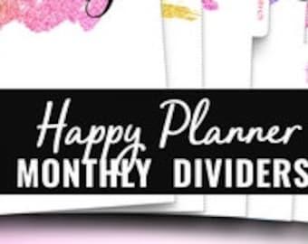 Happy Planner Dividers. Big Happy Planner Inserts. Happy Planner Classic Dividers. Monthly Dividers Monthly Tabs Happy Planner Big Printable