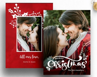 christmas card template photoshop photographer christmas card etsy