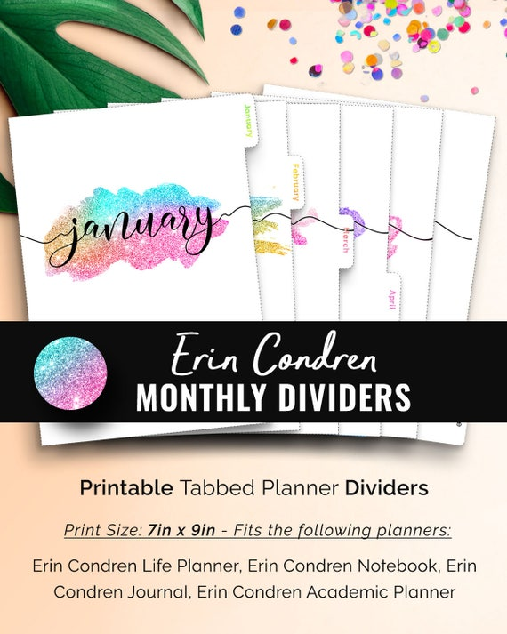 graphic relating to Divider Tabs Printable known as Erin Condren Dividers Existence Planner Dividers Printable. Erin Condren Tabs. Erin Condren Divider Tabs. Regular monthly Dividers Printable Planner Tabs
