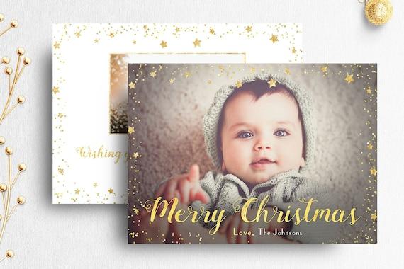 Christmas Card Template Photoshop Photographers Photo Etsy