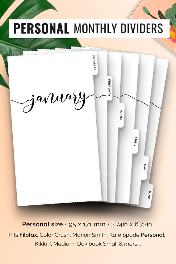 Filofax Personal Planner Dividers-Laminated /'Forever Free/' x 6!
