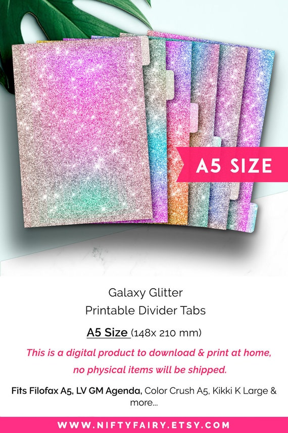 image about Printable Divider Tabs named A5 Planner Dividers A5 Divider Tabs Filofax A5 Dividers GM Routine Dividers LV GM Dividers Filofax A5 Tab Dividers Carpe Diem Dividers Galaxy