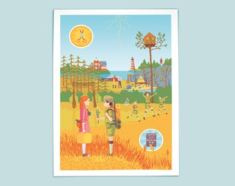 Wes Anderson's Moonrise Kingdom artprint made by the amazing Senne Trip