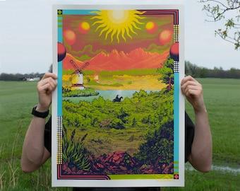 Roadburn Artprint 1   Screenprint by Douwe Dijkstra