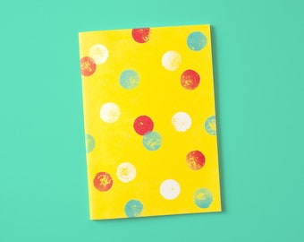 Notebook A5 with dots yellow