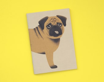 Notebook A6 with pug