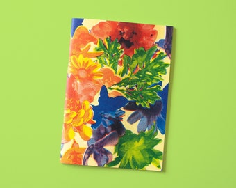 Notebook A5 with floral pattern in Ariso look