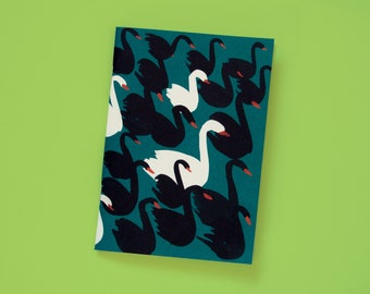 Notebook A6 Swans petrol