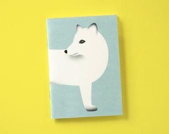 Notebook A6 with polar fox