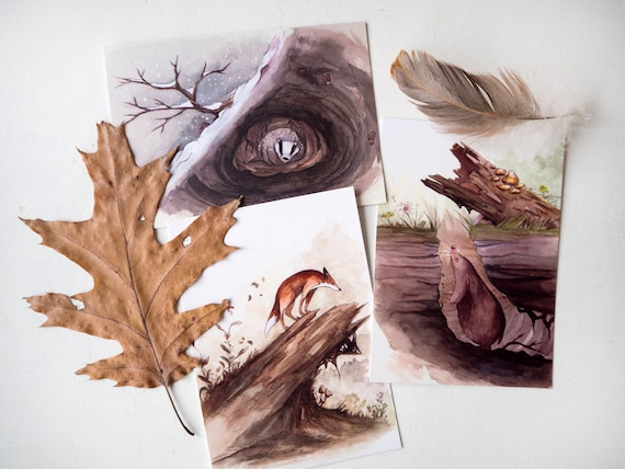 Watercolor painting anima...