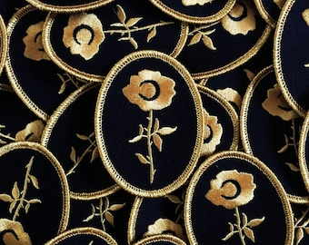 Dat Rosa - Metallic Gold Embroidered Patch